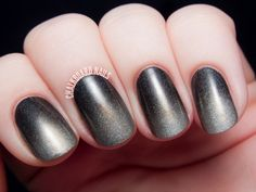 Smoky gray to silver holographic gradient nail art featuring shades from I Love Nail Polish.