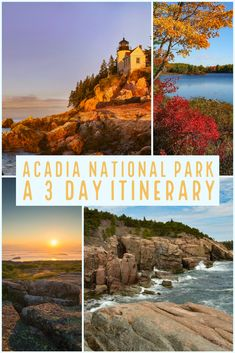 Acadia National Park is a perfect autumn paradise in the US.  A weekend in Acadia National Park, or any 3 days in Acadia may be the gorgeous waterfront break your family needs. The water may be too chilly, but those brilliant fall colors will warm you up!  Our Acadia trip planner gives you all the things to do in Acadia, all the places to see in Acadia, and our ideal 3 day Acadia itinerary.  It is jam packed and loaded with fun!   #acadianationalpark #acadia #maine #nps #ustravel #newengland Arcadia National Park, Us National Parks, Us Destinations, Amazing Destinations, Travel Usa, Travel Maine, Travel Inspiration, Travel Ideas, Travel Tips