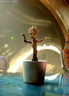 Baby Groot - everything I want in life. - There needs to be a Furby-Tamagotchi-Robo…pet version of Baby Groot like yesterday<<---- Pinning for that comment. And why isn't this a thing yet? Groot Guardians, I Am Groot, Fandom, Guardians Of The Galaxy, Bunt, Nerdy, Geek Stuff, Crafty, Painting