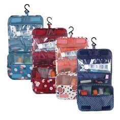 Oxford Multi-funzione di Stoccaggio Appendere Make Up Donne del Sacchetto Dei Bagagli di Viaggio di Grande Capacità Sacchetti Cosmetici