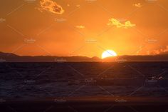 Warm Winter Sea Sunset by QueenDesigns on @creativemarket