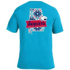 Image One Women's University of South Alabama Pattern Scroll State T-shirt (Blue Medium 04, Size X Large) - NCAA Licensed Product, NCAA Women's at ...