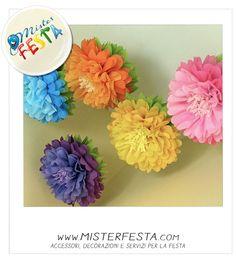 #fiori colorati da appendere o per creare una composizione floreale