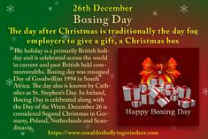 #today 26th December is #BoxingDay  #NationalWhinersDay #NationalThankYouNoteDay  There are various explanations regarding the origins, but popular festivities nowadays include eating leftovers, soccer games, visiting and drinking.  #ChristmasCelebration