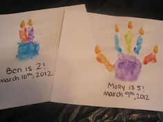 Handprint Birthday Cakes!