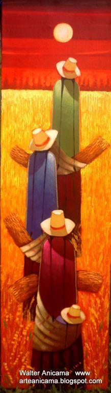 trigales - Walter Anicama Zamora - Peruvian Painter Cuban Art, Mexican Art, Scrapbooking Image, Arte Latina, Naive Art, Native American Art, Painting Inspiration, Folk Art, Watercolor Paintings