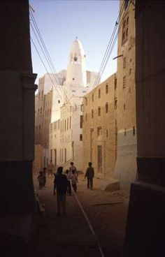 PHOTO of Yemen, Wadi Hadramaut (Hadramaout, Hadhramawt), street with mud brick houses in Tarim Brick Houses, Mekkah, Arabian Peninsula, Hagia Sophia, Islamic Architecture, Travel And Tourism, Color Photography, Vacation Destinations, Around The Worlds