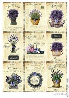 Details about Vintage Image Shabby Labels Lavender Flowers Grunge Waterslide Decals - obraz - Vintage Labels, Vintage Ephemera, Vintage Cards, Vintage Paper, Vintage Images, Shabby Vintage, Shabby Chic, Printable Vintage, Decoupage Vintage