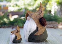MINI Gnome and LORE the Quirky Woodland Gnomes by TheGnomeMakers