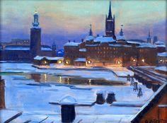 Winter Night in Stockholm - GUNNAR ZETTERSTRÖM