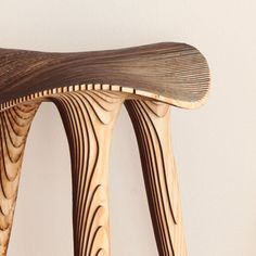 Good wood - 3D printed 'Sadl' stools by LMBRJK