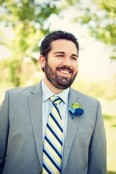 Nice tie and boutonniere