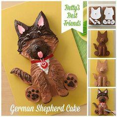 German Sheppard cake making