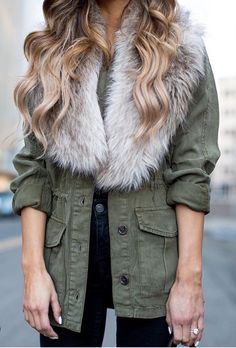Fur over military style