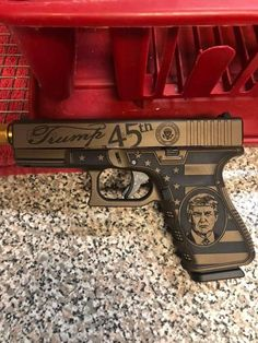 Found this posted in a comment section of a weird trump meme. Comment just reads Already got my Trump Gun lets see Biden try and take it- ThorGift.com - If you like it please buy some from ThorGift.com Trump Meme, Weird, Instruments, Guns, Let It Be, Memes, Weapons Guns, Meme, Revolvers