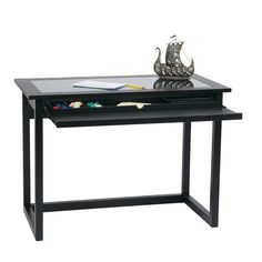 meridian tempered glass top computer desk free shipping today