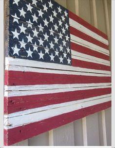 Beautiful Amerian flag interpretation by Craftymomsters on Etsy, $200.00