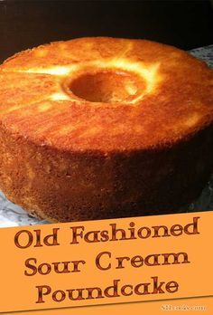 Old-fashioned Sour Cream Pound Cake Ingredients 3 cups sugar 1 cup butter 6 eggs, separated 2 teaspoons vanilla 1 tablespoon fresh lemon juice 1 cup sour cream 3 cups all-purpose flour, sift before measuring teaspoon baking soda teaspoon salt Food Cakes, Cupcake Cakes, Cupcakes, Bundt Cakes, Just Desserts, Dessert Recipes, Sour Cream Pound Cake, Almond Pound Cakes, Pound Cake Recipes