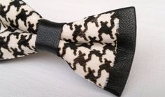 Check out this item in my Etsy shop https://www.etsy.com/listing/213027192/houndstooth-bow-tie-hair-on-hide-printed