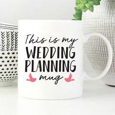 Wedding Planning Mug, Mug for Bride, Wedding Planner Mug, Engagement Gift for Her, Mug for Engagement, Bridal Shower Mug, Bridal Shower Gift Wedding Planning Mug, Wedding Planner, Engagement Gifts For Couples, Bridal Shower Gifts, Couple Gifts, Wedding Bride, Coffee Cups, Bridesmaids, Gift Ideas