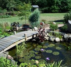 32 Minimalist Fish Pond Design Ideas, The region of the pond's wall is glass, which means you can realize your pet fish clearly. Besides beautify your home, fish pond has many different ad. Small Fish Pond, Small Ponds, Outdoor Ponds, Ponds Backyard, Garden Ponds, Backyard Waterfalls, Outdoor Fountains, Gravel Garden, Pond Bridge