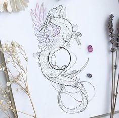 Tattoos Skull, Cute Tattoos, Wolf Tattoos, Body Art Tattoos, Tribal Tattoos, Celtic Tattoos, Dragon Tattoo Sketch, Tattoo Sketches, Tattoo Drawings