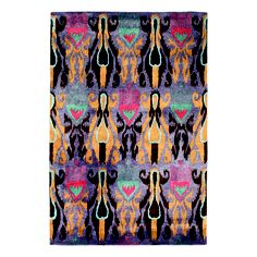 120 x 180 - Ikat - Multi - Rectangle Shaped Rug - BijouIkat - Multi - 120 x 180 Flooring Store, Vinyl Flooring, Rug World, Ikat Print, Home Trends, Traditional Rugs, Rectangle Shape, Persian Rug, Soft Furnishings