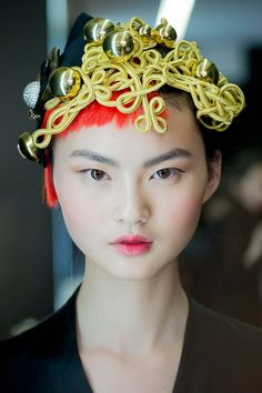 Cong He - (IMG) Hometown: Hunan, China Season highlights: Proenza Schouler, Marni, Balmain, Miu Miu Follow her: @heconghc Cong's innate poise and inarguable appeal have made her a favorite of Dolce & Gabbana and Chanel, but Fall saw the beauty become a girl most wanted by all of fashion's elite. Walking more than 30 shows—all of them exceptional in quality—Cong was one of the hardest working models of the season.