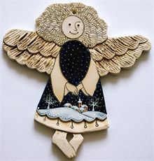 Vánoční motiv - anděl Pottery Angels, Fairy, Teddy Bear, Dolls, Christmas, Clay Ideas, Winter, Collection, Easter