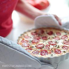 Tarta z pomidorami i krewetkami - Przepis