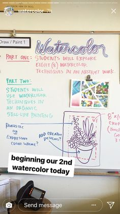 These art lessons and projects for kids provide a detailed step-by-step instruction about how to generate art(draw, paint, Middle School Art Projects, Art School, Painting Lessons, Art Lessons, Watercolor Projects, Watercolor Techniques, Watercolor Lesson, Watercolor Ideas, Intro To Art