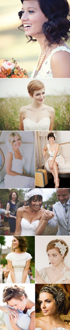 Praise Wedding » Wedding Inspiration and Planning » 19 Beautiful Short Bridal Hair Styles
