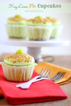 Key Lime Pie Cupcakes Recipe @createdbydiane