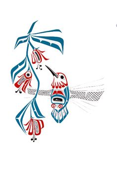 Hummingbird-Prints - Glen Rabena, Northwest Coast Native Artist