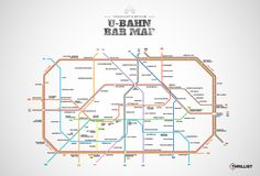 U-bahn Bar Map of Berlin