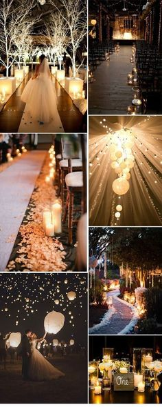 romantic themed wedding decorations #wedding #wedidngideas #rustic #country #candles #weddingdecoration
