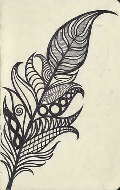 zentangle feather: I'm about to doodle this right now! I love feathers for some reason! Piercing Tattoo, Piercings, Henna Designs, Tattoo Designs, Tattoo Ideas, Tattoo Pics, Muster Tattoos, Bild Tattoos, Future Tattoos