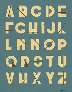 Great Divide typeface. by Josh McKenna (jshmck), via Behance