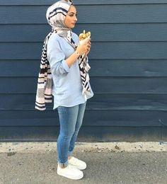 รูปภาพ blue, hijab, and style