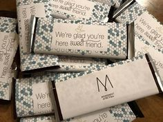 Candy bar wrapped with themed paper. File in ideas section of MOPS website.