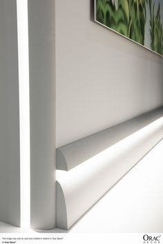 C373 'Antonio' Uplighting Coving used as an LED skirting board. Wm Boyle Interior Finishes