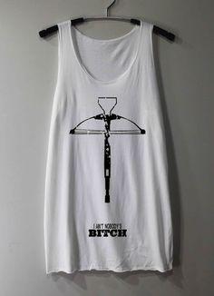 n_i_k_o_l_e's save of Daryl Dixon Crossbow Shirt The Walking Dead Shirts Tank Top Tunic TShirt T Shirt Singlet - Size S M L on Wanelo