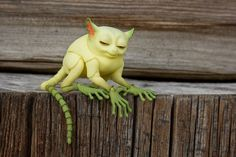3D printed bjd tarsier 45 cm 2 heads lemon by WalloyaMorringShop