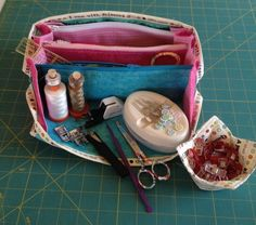 Open Sew Together tote all ready for action!