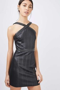 a38b4d53454 ex TOPSHOP Black Hardware Strap Bandage Dress MUST HAVE UK 6 8 10 RRP £32