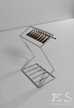 Standing hanger, iron, wood, stal, metal, drewno, industrial, Victor, Kraina ES