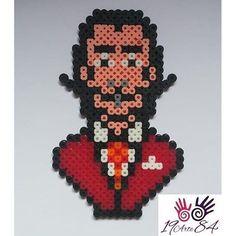 Salvador Dali magnet hama beads by 19arte84