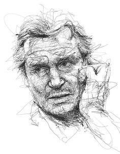 12 Scribbly, Messy, yet Oddly Precise Portraits by Vince Low - Heavy Metal Portrait Sketches, Portrait Art, Ink Pen Drawings, Drawing Sketches, Sketch Art, Line Drawing Artists, Scribble Art, Me Anime, Cute Kawaii Drawings