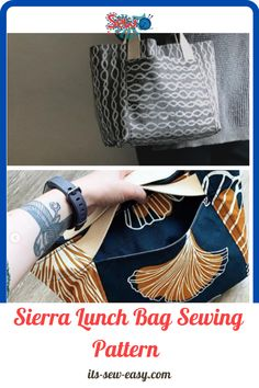 The Sierra lunch bag sewing pattern allows you to create two looks using one pattern. It's a great project to work on for both intermediate and beginner sewers. The Sierra lunch bag sewing pattern allows you to create two looks using one pattern. It's a great project to work on for both intermediate and beginner sewers. #lunchbag#sewingpatterns#lunchbagpatterns#easysewingpatterns#sewingproject