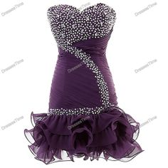 Short purple dress by dressestime; $149.99